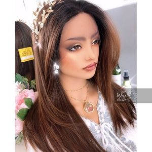"""20"""" Straight Copper Lace Wig   Sally"""